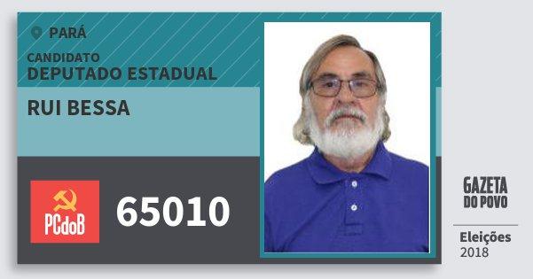 Santinho Rui Bessa 65010 (PC do B) Deputado Estadual | Pará | Eleições 2018