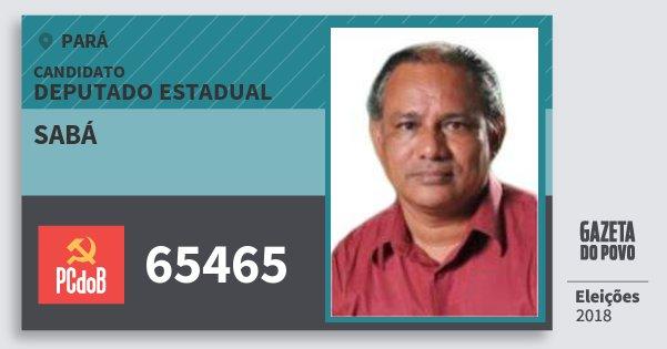 Santinho Sabá 65465 (PC do B) Deputado Estadual | Pará | Eleições 2018