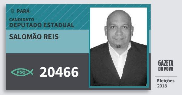 Santinho Salomão Reis 20466 (PSC) Deputado Estadual | Pará | Eleições 2018