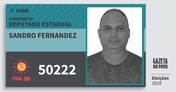 Santinho Sandro Fernandez 50222 (PSOL) Deputado Estadual | Pará | Eleições 2018