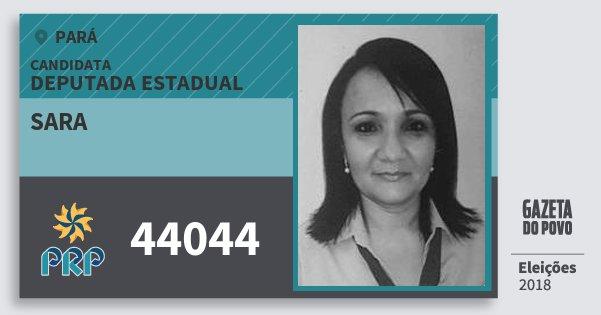 Santinho Sara 44044 (PRP) Deputada Estadual | Pará | Eleições 2018