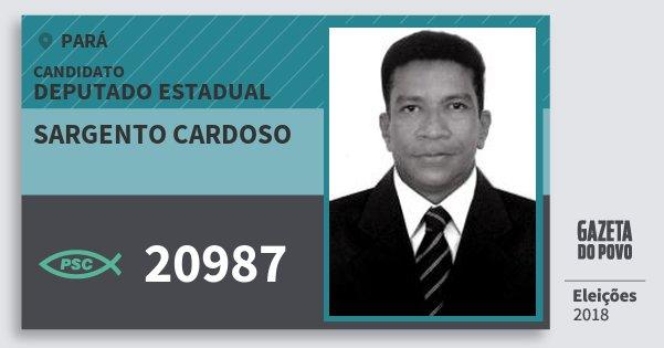 Santinho Sargento Cardoso 20987 (PSC) Deputado Estadual | Pará | Eleições 2018