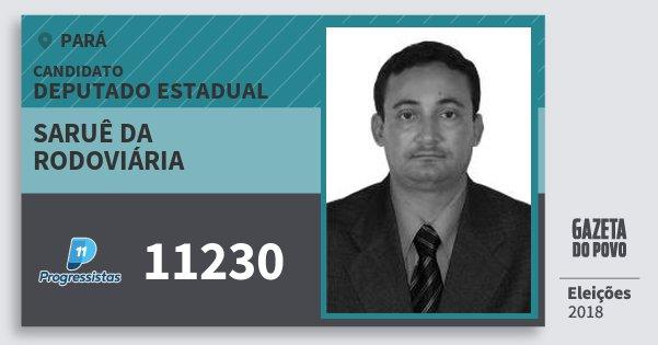 Santinho Saruê da Rodoviária 11230 (PP) Deputado Estadual | Pará | Eleições 2018
