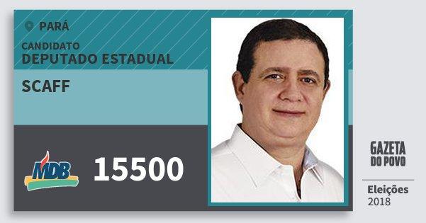 Santinho Scaff 15500 (MDB) Deputado Estadual | Pará | Eleições 2018