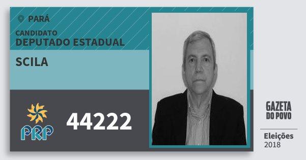 Santinho Scila 44222 (PRP) Deputado Estadual | Pará | Eleições 2018