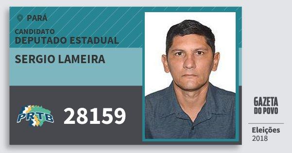 Santinho Sergio Lameira 28159 (PRTB) Deputado Estadual | Pará | Eleições 2018