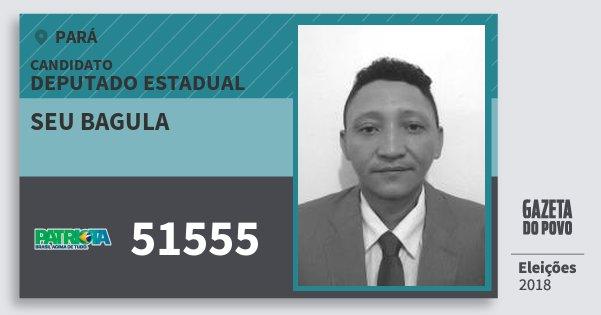 Santinho Seu Bagula 51555 (PATRI) Deputado Estadual   Pará   Eleições 2018