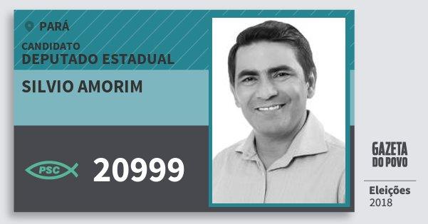 Santinho Silvio Amorim 20999 (PSC) Deputado Estadual | Pará | Eleições 2018