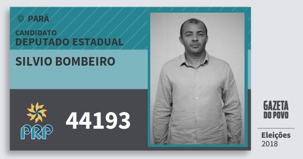 Santinho Silvio Bombeiro 44193 (PRP) Deputado Estadual   Pará   Eleições 2018