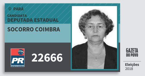 Santinho Socorro Coimbra 22666 (PR) Deputada Estadual | Pará | Eleições 2018