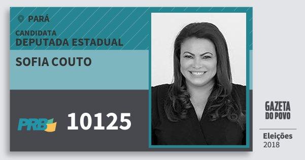 Santinho Sofia Couto 10125 (PRB) Deputada Estadual | Pará | Eleições 2018