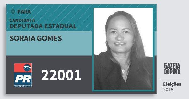 Santinho Soraia Gomes 22001 (PR) Deputada Estadual   Pará   Eleições 2018