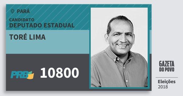 Santinho Toré Lima 10800 (PRB) Deputado Estadual | Pará | Eleições 2018