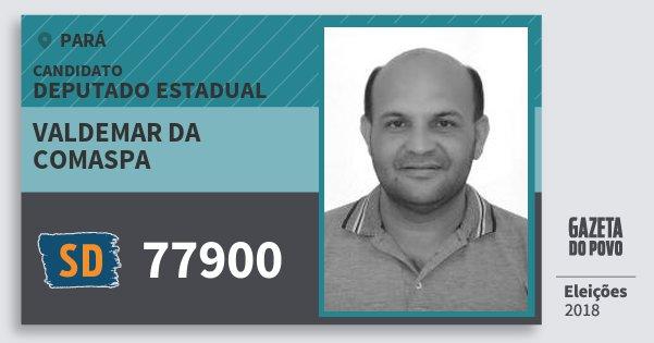 Santinho Valdemar da Comaspa 77900 (SOLIDARIEDADE) Deputado Estadual | Pará | Eleições 2018
