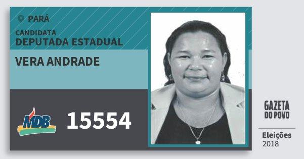 Santinho Vera Andrade 15554 (MDB) Deputada Estadual | Pará | Eleições 2018