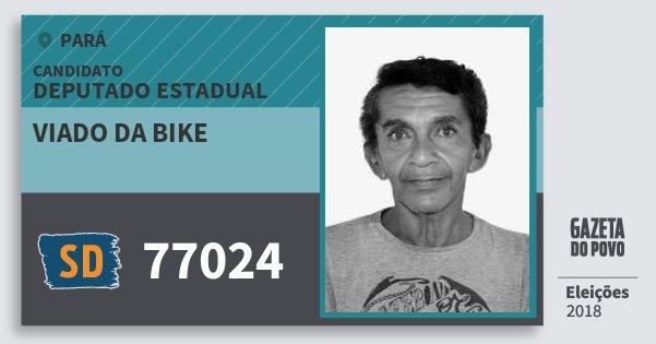 Santinho Viado da Bike 77024 (SOLIDARIEDADE) Deputado Estadual   Pará   Eleições 2018