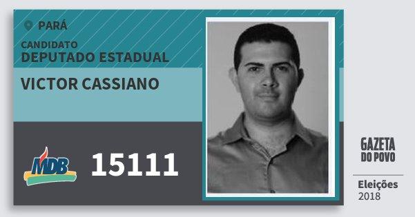Santinho Victor Cassiano 15111 (MDB) Deputado Estadual | Pará | Eleições 2018