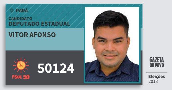 Santinho Vitor Afonso 50124 (PSOL) Deputado Estadual | Pará | Eleições 2018