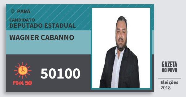 Santinho Wagner Cabanno 50100 (PSOL) Deputado Estadual | Pará | Eleições 2018