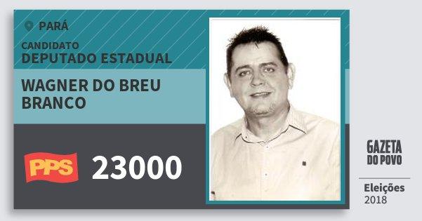 Santinho Wagner do Breu Branco 23000 (PPS) Deputado Estadual | Pará | Eleições 2018