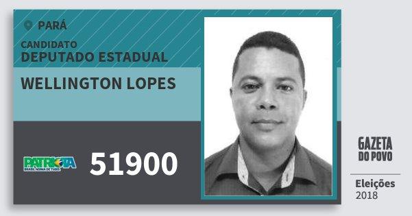 Santinho Wellington Lopes 51900 (PATRI) Deputado Estadual   Pará   Eleições 2018