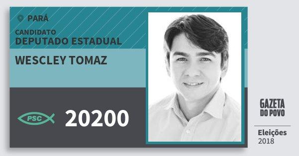 Santinho Wescley Tomaz 20200 (PSC) Deputado Estadual | Pará | Eleições 2018