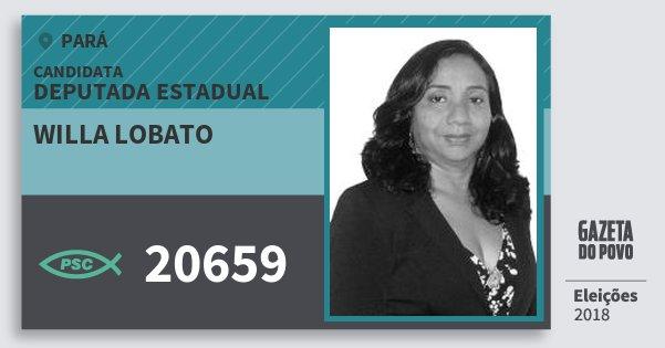 Santinho Willa Lobato 20659 (PSC) Deputada Estadual | Pará | Eleições 2018