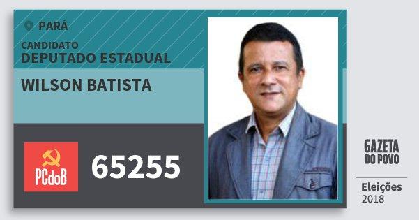 Santinho Wilson Batista 65255 (PC do B) Deputado Estadual | Pará | Eleições 2018
