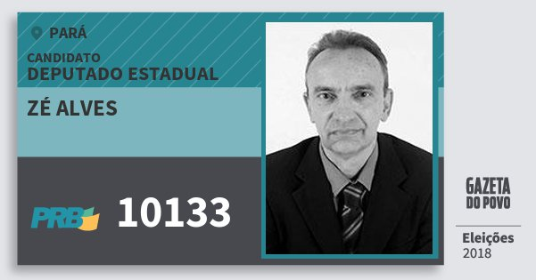Santinho Zé Alves 10133 (PRB) Deputado Estadual | Pará | Eleições 2018