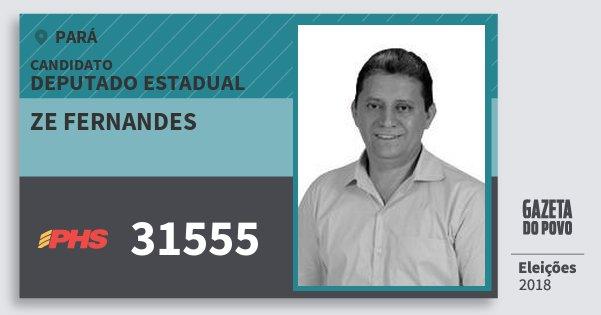 Santinho Ze Fernandes 31555 (PHS) Deputado Estadual | Pará | Eleições 2018