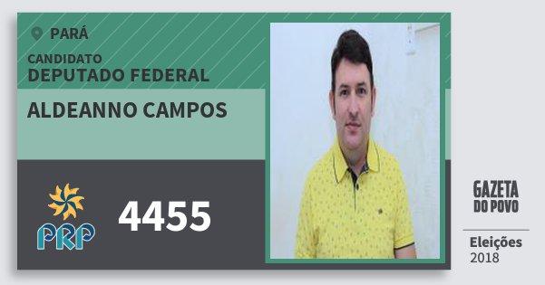 Santinho Aldeanno Campos 4455 (PRP) Deputado Federal | Pará | Eleições 2018