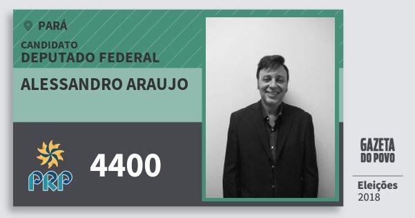 Santinho Alessandro Araujo 4400 (PRP) Deputado Federal | Pará | Eleições 2018