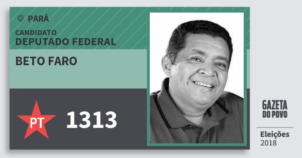 Santinho Beto Faro 1313 (PT) Deputado Federal | Pará | Eleições 2018