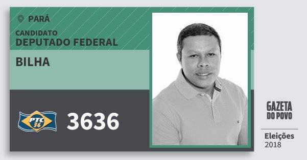 Santinho Bilha 3636 (PTC) Deputado Federal | Pará | Eleições 2018