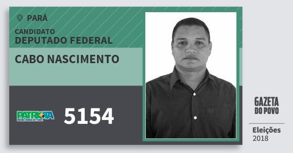 Santinho Cabo Nascimento 5154 (PATRI) Deputado Federal | Pará | Eleições 2018