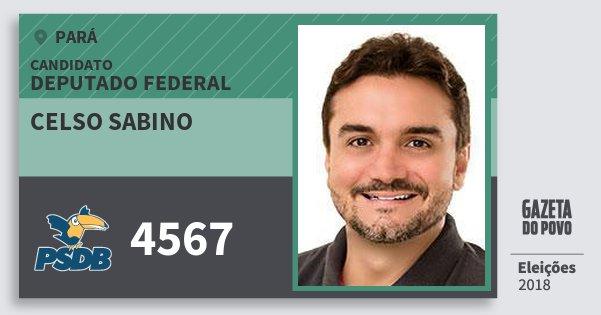 Santinho Celso Sabino 4567 (PSDB) Deputado Federal | Pará | Eleições 2018