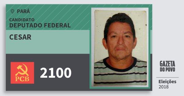 Santinho Cesar 2100 (PCB) Deputado Federal | Pará | Eleições 2018