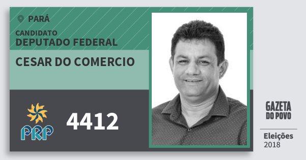 Santinho Cesar do Comercio 4412 (PRP) Deputado Federal | Pará | Eleições 2018