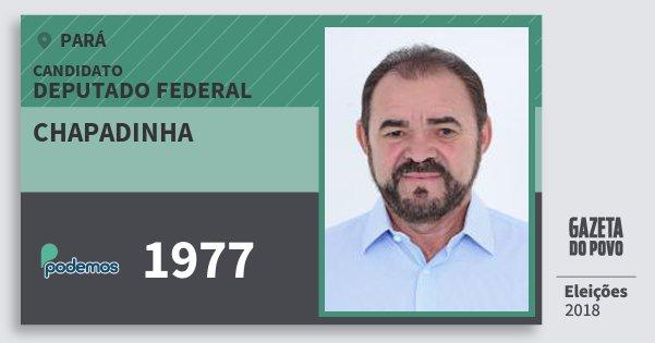 Santinho Chapadinha 1977 (PODE) Deputado Federal | Pará | Eleições 2018