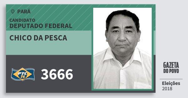 Santinho Chico da Pesca 3666 (PTC) Deputado Federal | Pará | Eleições 2018