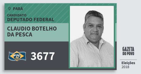 Santinho Claudio Botelho da Pesca 3677 (PTC) Deputado Federal | Pará | Eleições 2018