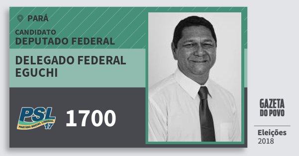 Santinho Delegado Federal Eguchi 1700 (PSL) Deputado Federal | Pará | Eleições 2018