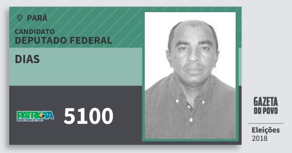 Santinho Dias 5100 (PATRI) Deputado Federal | Pará | Eleições 2018