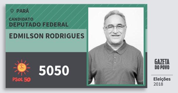 Santinho Edmilson Rodrigues 5050 (PSOL) Deputado Federal | Pará | Eleições 2018