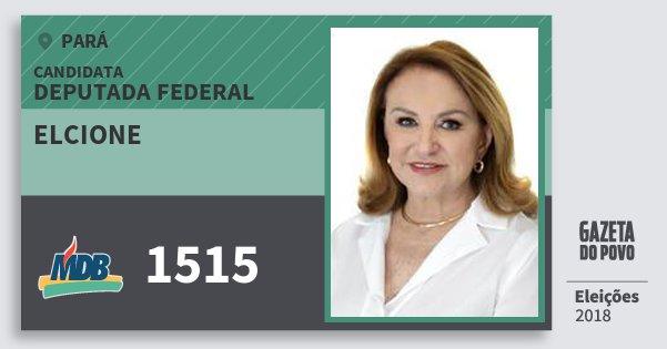 Santinho Elcione 1515 (MDB) Deputada Federal | Pará | Eleições 2018