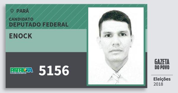 Santinho Enock 5156 (PATRI) Deputado Federal | Pará | Eleições 2018