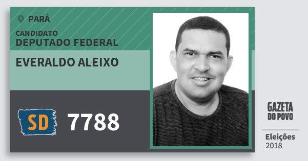 Santinho Everaldo Aleixo 7788 (SOLIDARIEDADE) Deputado Federal | Pará | Eleições 2018