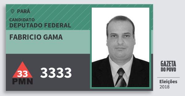 Santinho Fabricio Gama 3333 (PMN) Deputado Federal   Pará   Eleições 2018