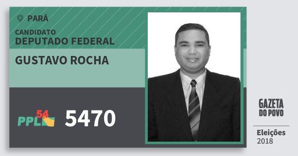 Santinho Gustavo Rocha 5470 (PPL) Deputado Federal | Pará | Eleições 2018