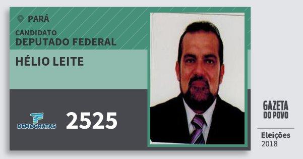 Santinho Hélio Leite 2525 (DEM) Deputado Federal | Pará | Eleições 2018
